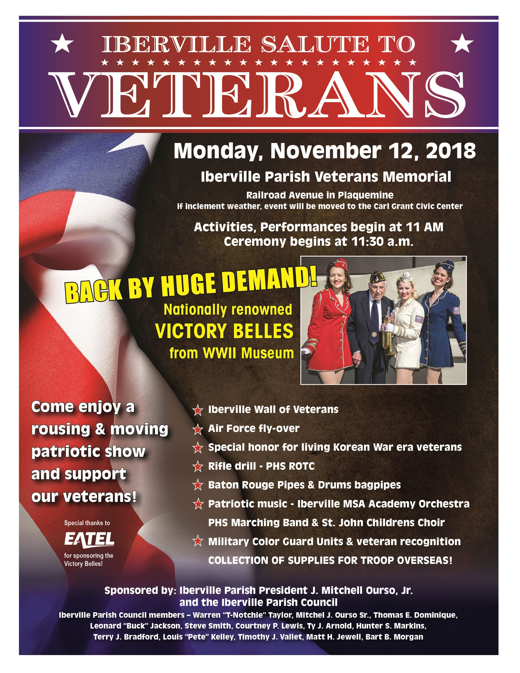 Salute to Veterans Flyer 2018